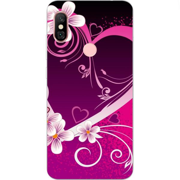 Купить Чехлы для телефонов, Бампер силиконовый чехол Amstel с картинкой для Xiaomi Redmi Note 6 Pro Сердце