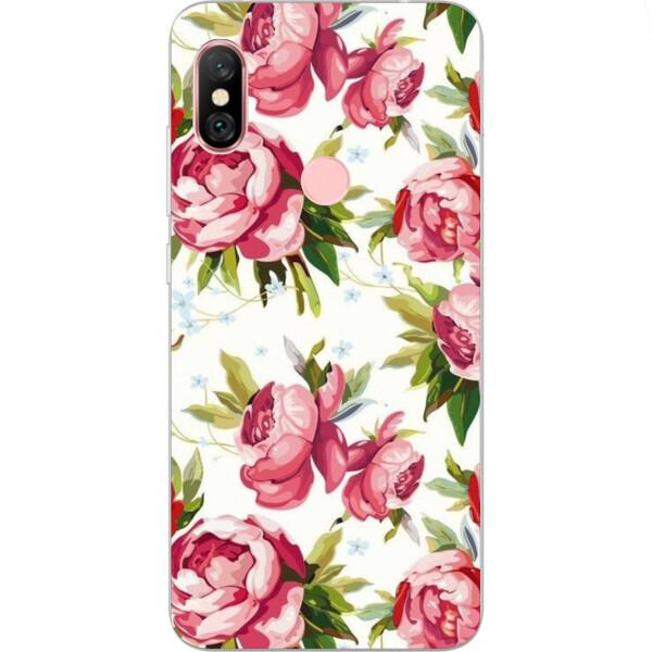 Купить Чехлы для телефонов, Бампер силиконовый чехол Amstel с картинкой для Xiaomi Redmi Note 6 Pro Розочки
