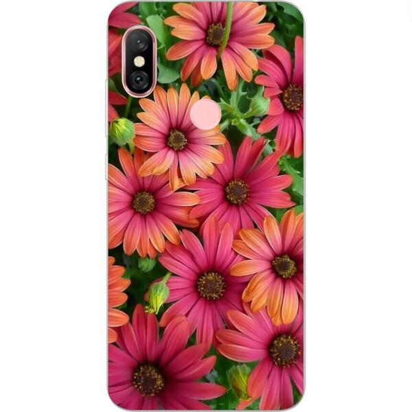 Купить Чехлы для телефонов, Бампер силиконовый чехол Amstel с картинкой для Xiaomi Redmi Note 6 Pro Герберы