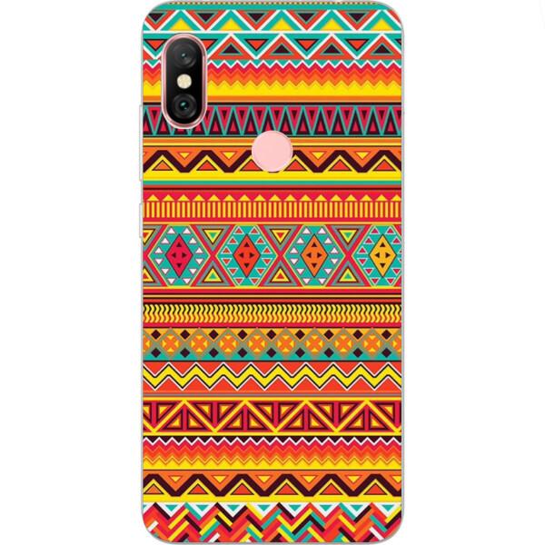 Купить Чехлы для телефонов, Бампер силиконовый чехол Amstel с картинкой для Xiaomi Redmi Note 6 Pro Орнамент