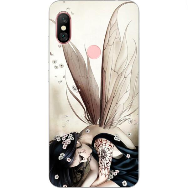 Купить Чехлы для телефонов, Бампер силиконовый чехол Amstel с картинкой для Xiaomi Redmi Note 6 Pro Фея