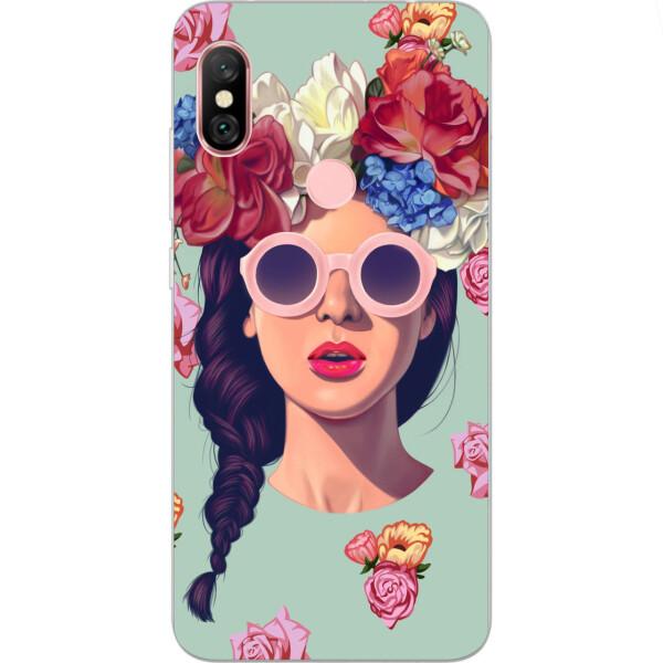 Купить Чехлы для телефонов, Бампер силиконовый чехол Amstel с картинкой для Xiaomi Redmi Note 6 Pro Девушка