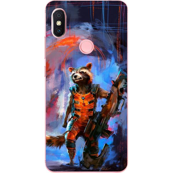 Купить Чехлы для телефонов, Силиконовый чехол бампер Amstel для Xiaomi Redmi S2 с картинкой Енот Ракета