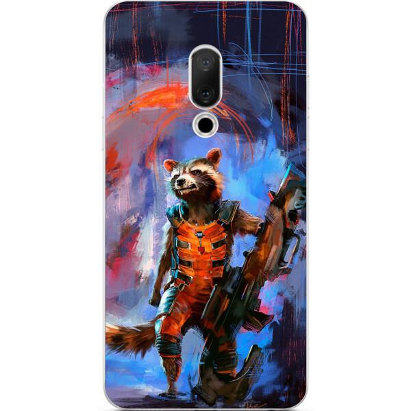 Купить Чехлы для телефонов, Силиконовый чехол бампер Amstel для Meizu 15 с картинкой Енот Ракета