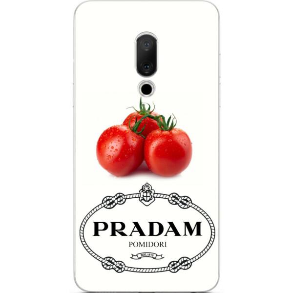 Купить Чехлы для телефонов, Антибрендовый силиконовый Amstel чехол для Meizu 15 с картинкой Pradam Pomidori