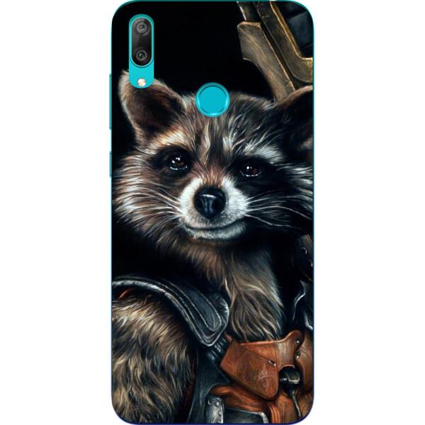 Купить Чехлы для телефонов, Силиконовый чехол Amstel для Huawei Y7 2019 с картинкой Енот Ракета