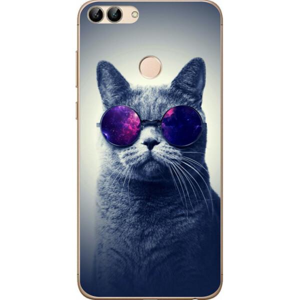 Купить Чехлы для телефонов, Чехол силиконовый Amstel для Huawei P Smart с картинкой Кот в очках, NN