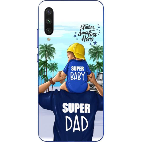 Купить Чехлы для телефонов, Бампер силиконовый чехол Amstel для Xiaomi Mi A3 Lite с картинкой Супер папа