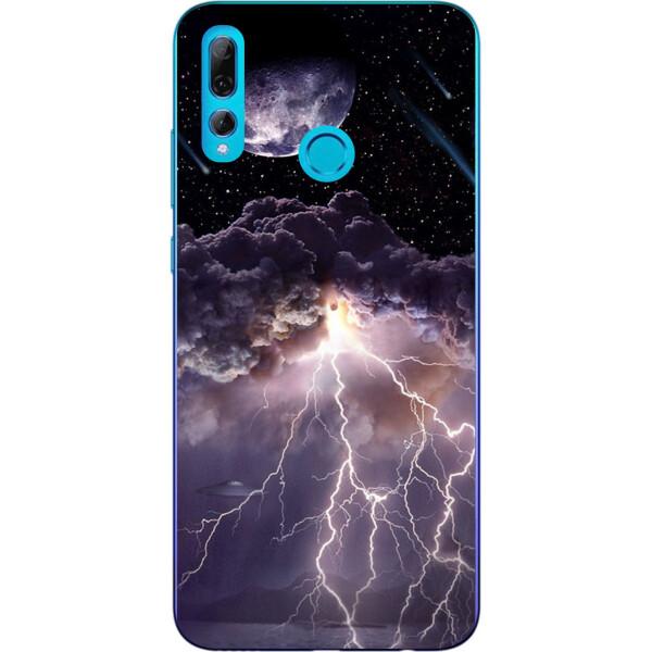 Купить Чехлы для телефонов, Силиконовый чехол бампер Amstel для Huawei P Smart Plus 2019 с картинкой Молния