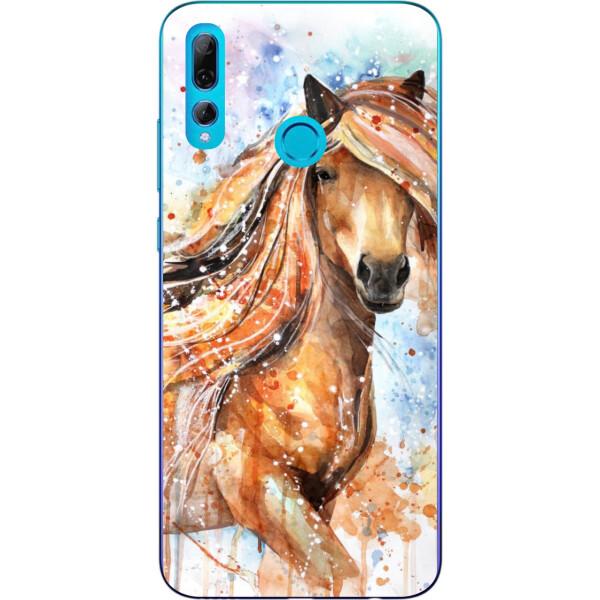 Купить Чехлы для телефонов, Бампер силиконовый чехол Amstel для Huawei P Smart Plus 2019 с картинкой Конь