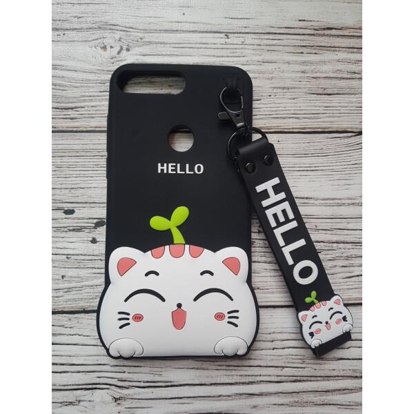 Купить Чехлы для телефонов, Объемный 3D силиконовый чехол Amstel для Huawei Y7 Prime 2018 / Y7 2018 / Nova 2 Lite hello kitty Кошечка черная, NN