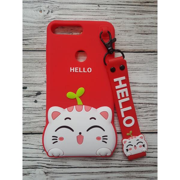 Купить Чехлы для телефонов, Объемный 3D силиконовый чехол Amstel для Huawei Y7 Prime 2018 / Y7 2018 / Nova 2 Lite hello kitty Кошечка красная, NN