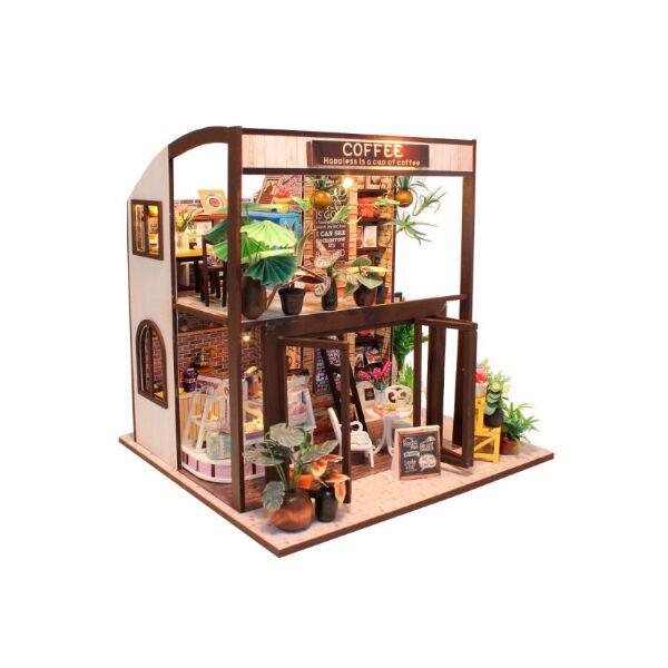 Румбокс 3D конструктор DIY Cute Room M027 Coffee House