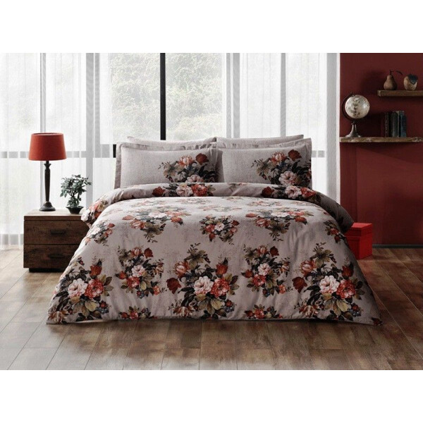 Купить Комплекты постельного белья, Tac сатин Digital - Jena gri v01 серый евро