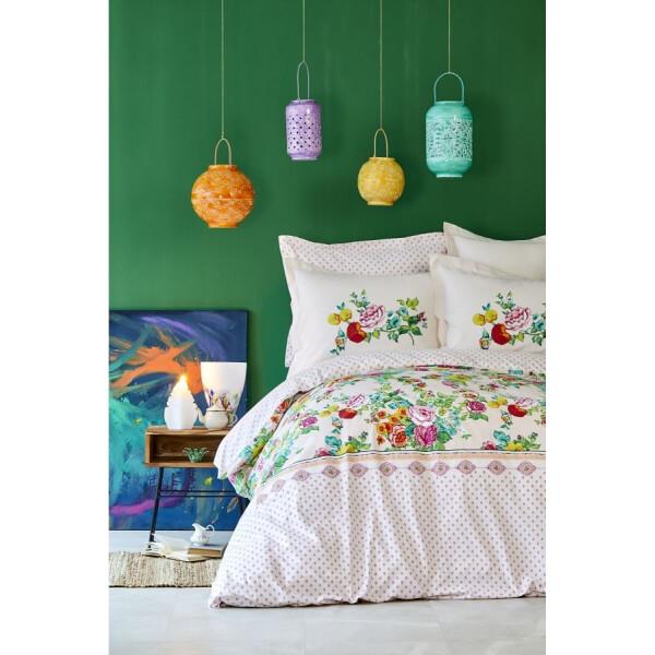 Купить Комплекты постельного белья, Karaca Home - Irini fusya 2019-2 фуксия пике 220*230 евро