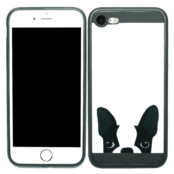 Купить Чехлы для телефонов, Чехол Image Case для iPhone 7 Mops White (1) (16909), U-Like