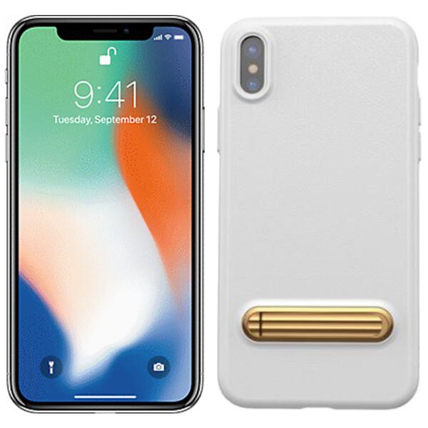 Купить Чехлы для телефонов, Чехол Baseus Happy Watching Supporting Series для iPhone X White (LS02) (23009)