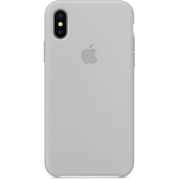 Купить Чехлы для телефонов, Чехол-накладка Apple Silicone Case Apple iPhone X Light grey (bz_F_55740)