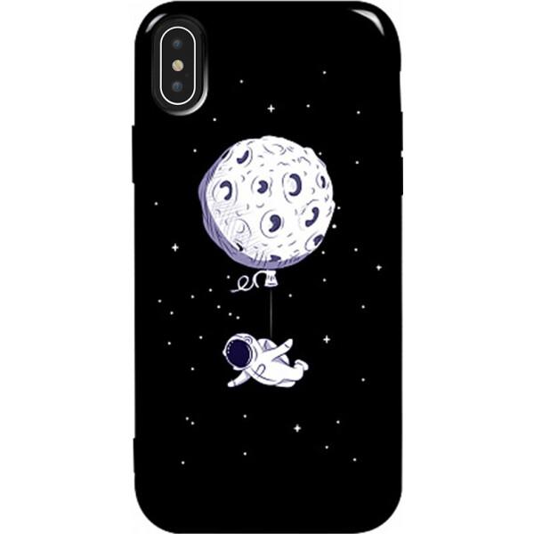 Купить Чехлы для телефонов, Чехол-накладка TOTO Pure TPU 2mm Print Case Apple iPhone Xs Max #47 Space Moon Black (bz_F_94870)