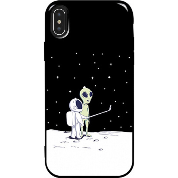 Купить Чехлы для телефонов, Чехол-накладка TOTO Pure TPU 2mm Print Case Apple iPhone Xs Max #40 Ufo Moon Black (bz_F_94869)