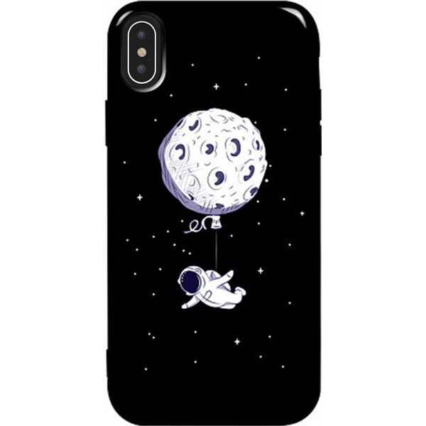 Купить Чехлы для телефонов, Чехол-накладка TOTO Pure TPU 2mm Print Case Apple iPhone X/Xs #47 Space Moon Black (bz_F_94790)