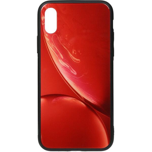 Купить Чехлы для телефонов, Чехол-накладка TOTO Print Glass Space Case Apple iPhone X/Xs Red (bz_F_96147)