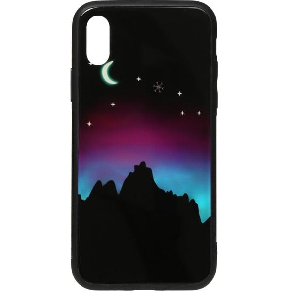 Купить Чехлы для телефонов, Чехол-накладка TOTO Night Light Print Glass Case Apple iPhone X/Xs Young Moon (bz_F_96159)