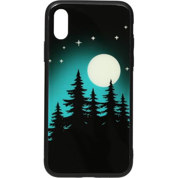 Купить Чехлы для телефонов, Чехол-накладка TOTO Night Light Print Glass Case Apple iPhone X/Xs Full Moon (bz_F_96104)
