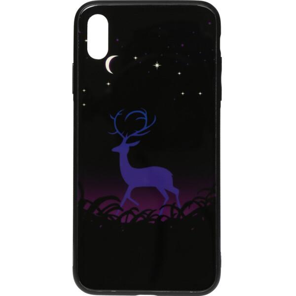 Купить Чехлы для телефонов, Чехол-накладка TOTO Night Light Print Glass Case Apple iPhone X/Xs Deer (bz_F_96065)