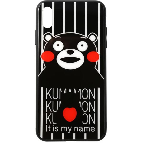 Купить Чехлы для телефонов, Чехол-накладка TOTO Cartoon Print Glass Case Apple iPhone X/Xs Kumamon (bz_F_93059)