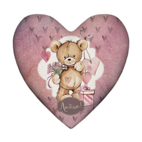 Подушка сердце Presentville Люблю! 57x57 см