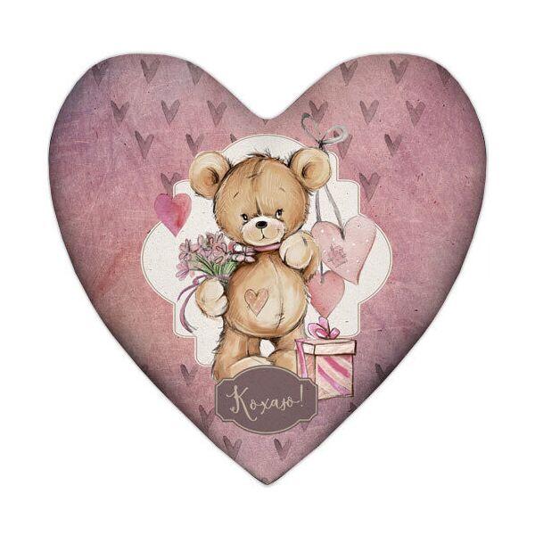 Подушка сердце Presentville Кохаю! 57x57 см