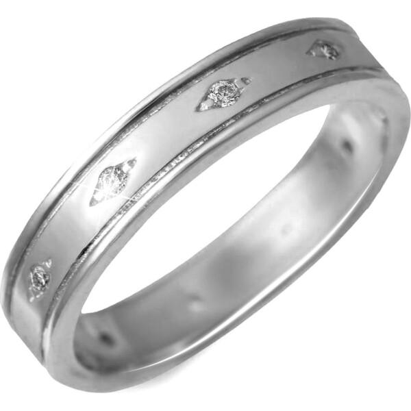Кольцо из серебра с куб. циркониями, размер 15 (143003) от Allo UA