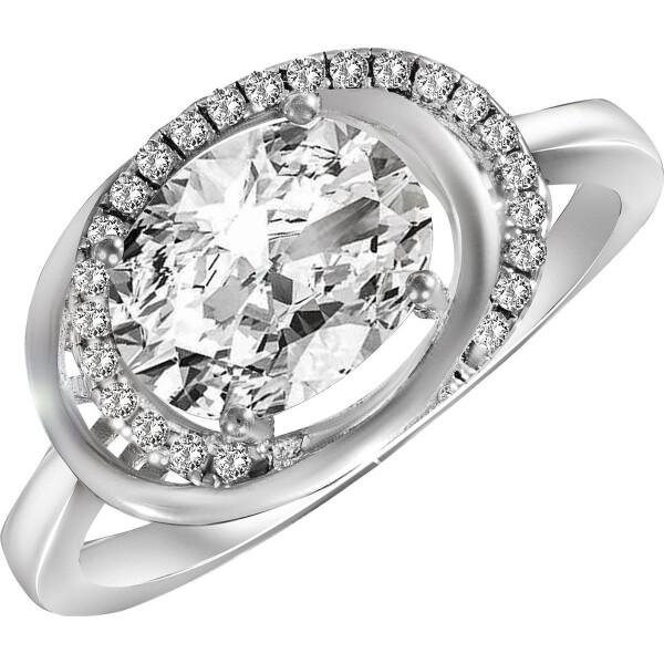 Кольцо из серебра с куб. циркониями, размер 16.5 (143563) от Allo UA