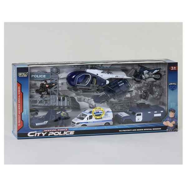 Купить Игровые наборы, Набор полицейской техники 8832 световые и звуковые эффекты (VI00539), Smart Kids
