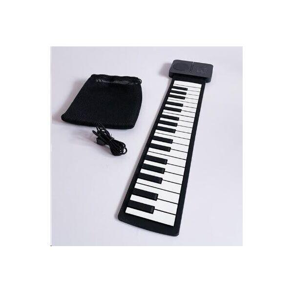 Силиконове детское електронное музыкальное гибкое пианино из силикона для детей на 37 клавиш (2513648-Т) Черно-белое