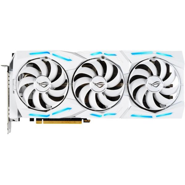 Купить Видеокарты, Asus PCI-Ex GeForce RTX 2080 Ti ROG Strix OC White Gaming 11GB GDDR6 (352bit) (1350/14800) (2 x HDMI, 2 x DisplayPort, 1 x USB Type-C) (ROG-STRIX-RTX2080TI-O11G-WHITE-GAMING)