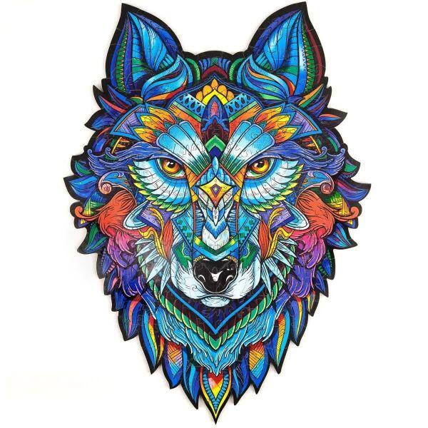 Акция на Деревянный пазл Premium Puzzles «Величественный Волк» (175 деталей, размер А4) от Allo UA