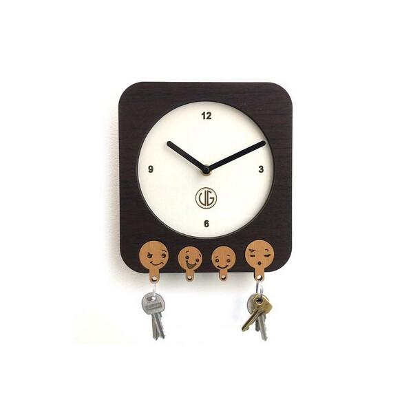 Купить Настенные часы-ключница DK Store UGT003-B 200х220 мм (hub_lJqw55030)