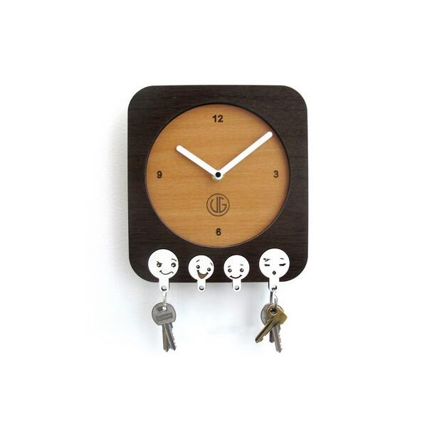 Настенные часы-ключница DK Store UGT003-A 200х220 мм (hub_bCtT34251)  - купить со скидкой
