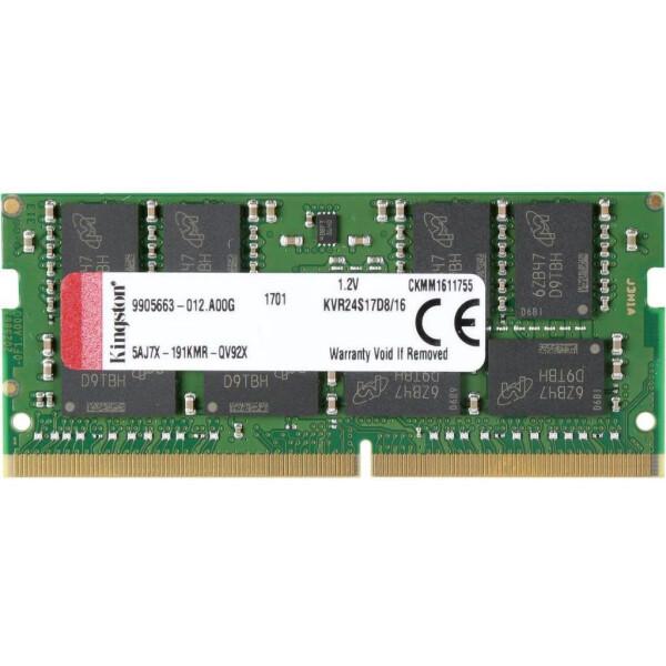 Купить Оперативная память, SO-DIMM 16GB/2400 DDR4 Kingston (KVR24S17D8/16)