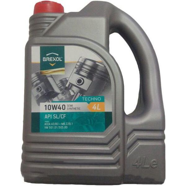 Купить Моторные масла, Brexol TECHNO 10W-40 4 л (48391051010)