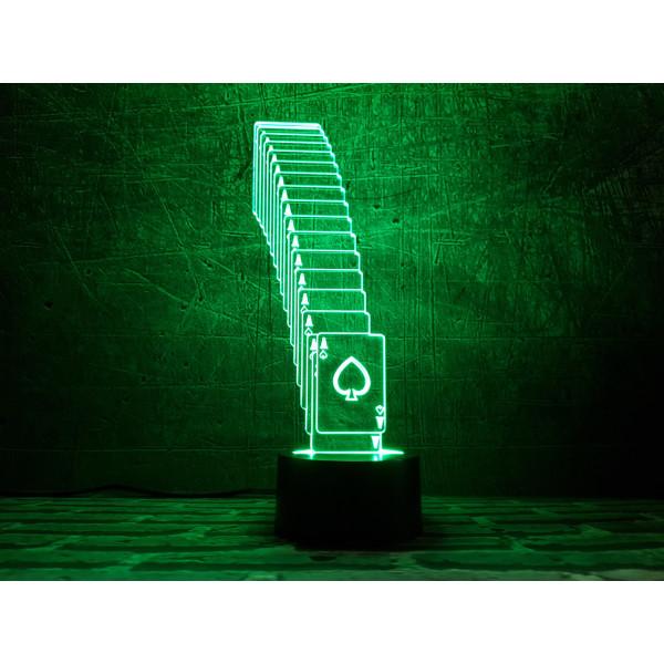 Купить Настольные лампы, Ночник 3DTOYSLAMP Тузы