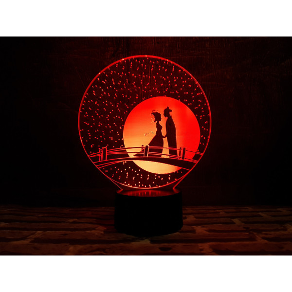 Купить Настольные лампы, Сменная пластина для 3DTOYSLAMP ламп Мост влюбленных