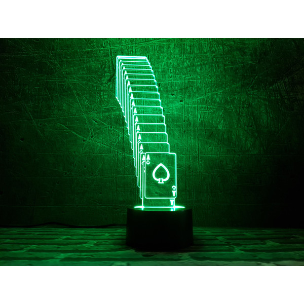 Купить Настольные лампы, Сменная пластина для 3DTOYSLAMP Тузы
