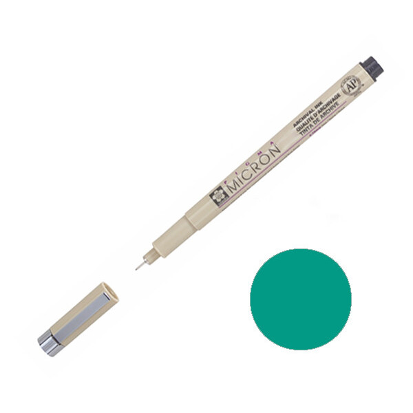 Купить Наборы для творчества и рукоделия, Лайнер Sakura Pigma Micron 0.8 мм Зеленый (XSDK08#29)