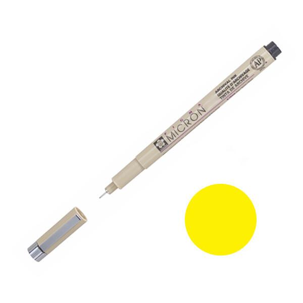 Купить Наборы для творчества и рукоделия, Лайнер Sakura Pigma Micron 0.5 мм Желтый (XSDK05#3)