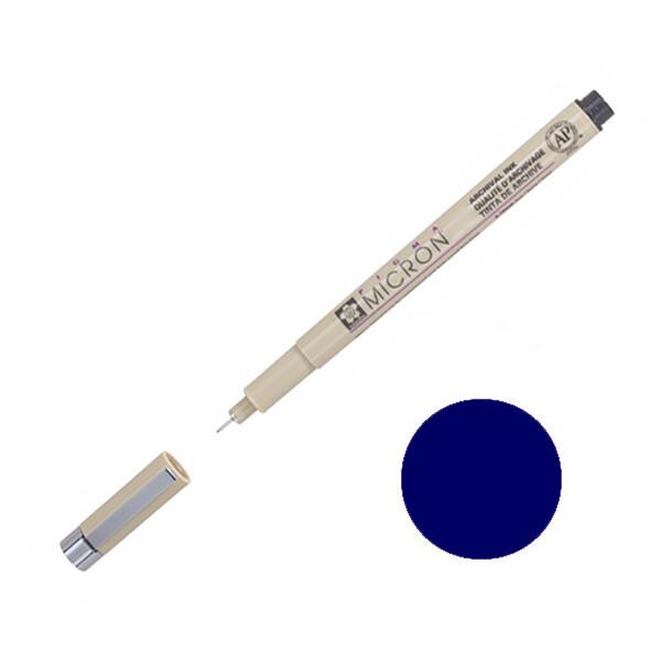 Купить Наборы для творчества и рукоделия, Лайнер Sakura Pigma Micron 0.5 мм Синий королевский (XSDK05#138)