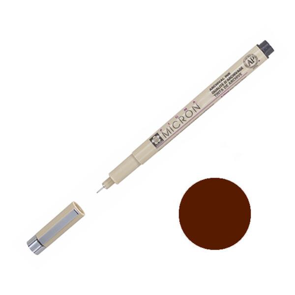 Купить Наборы для творчества и рукоделия, Лайнер Sakura Pigma Micron 0.1 мм Коричневый (XSDK01#12)