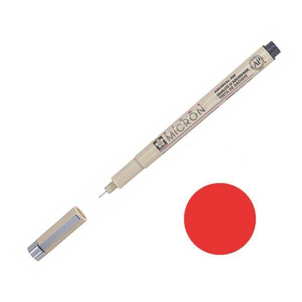 Купить Наборы для творчества и рукоделия, Лайнер Sakura Pigma Micron 0.05 мм Красный (XSDK005#19)